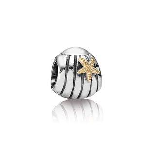 Pandora Retired Sea Shell 14k Gold Two Toned Charm